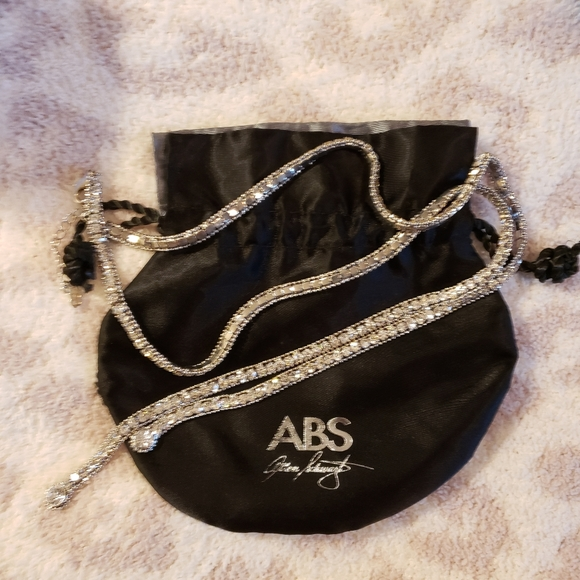 ABS silver with Crystal's long necklace